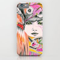 iPhone & iPod Case featuring Pink Leaves by Felicia Atanasiu