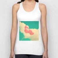 Happy Pink Balloons On R… Unisex Tank Top