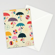 I'm happy when it rain Stationery Cards
