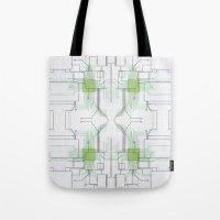 Circuit board green repeat Tote Bag