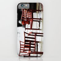 iPhone & iPod Case featuring Chairs Arranged in the Rain by Nevermind the Camera