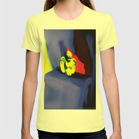 Lamentation In Blue, Yel… Womens Fitted Tee Lemon SMALL