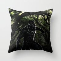 Big Cat On The Prowl Throw Pillow