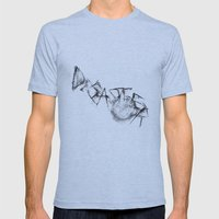 Disaster  Mens Fitted Tee Athletic Blue SMALL