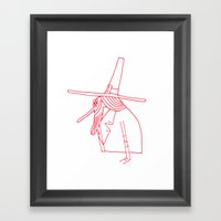 Happy Pilgrim Framed Art Print