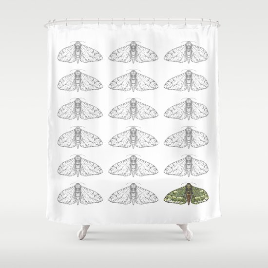 Moonlight Icarus Shower Curtain