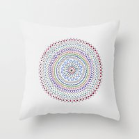 Mandala Smile B Throw Pillow