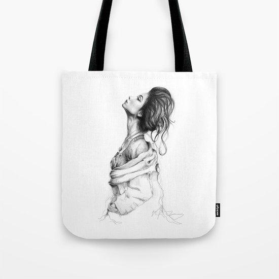 Pretty Lady Illustration Tote Bag