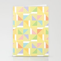 PINWHEELS - YELLOW Stationery Cards