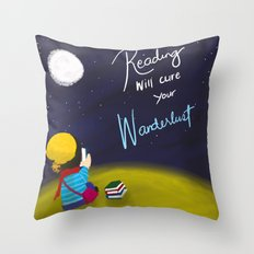 Reading Will Cure Your Wanderlust Throw Pillow
