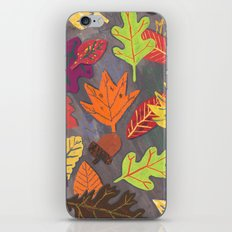Autumn Leaves Pattern iPhone & iPod Skin