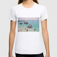Let's Jump Off The Rocks Womens Fitted Tee Ash Grey SMALL