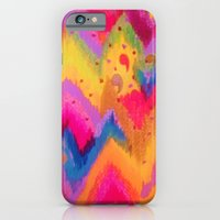 BOLD QUOTATION - Bright Vibrant Neon Quote Chevron Pattern Ikat Rainbow Trendy Design Fun Art iPhone 6 Slim Case
