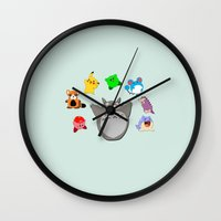 Video game Anime Character Rainbow Wall Clock