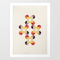 'round and 'round  Art Print