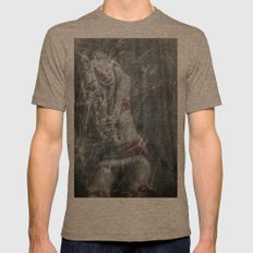 Steampunked Mens Fitted Tee Tri-Coffee SMALL