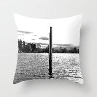 Scenic solitude Throw Pillow