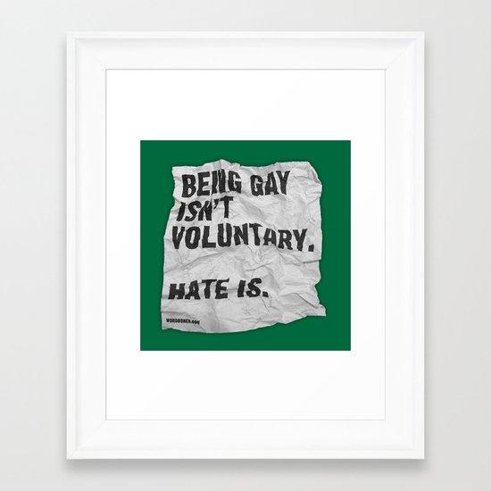 Voluntary Framed Art Print