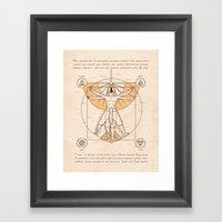 Vitruvian Aang Framed Art Print