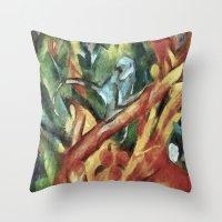 Monkey After Franz Ma… Throw Pillow