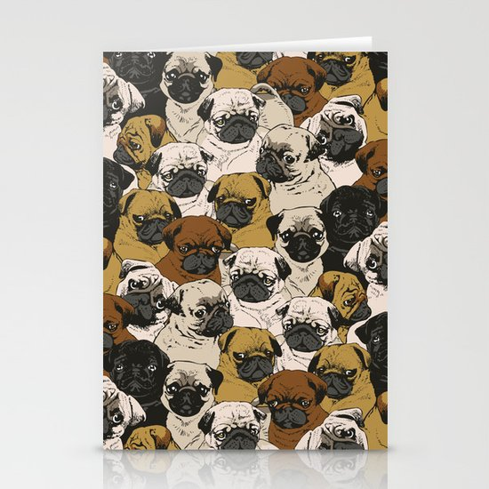 Social Pugz Stationery Card