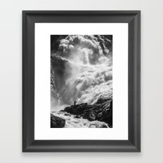 Dancing Falls Framed Art Print