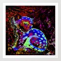 Colorful Panther A Art Print