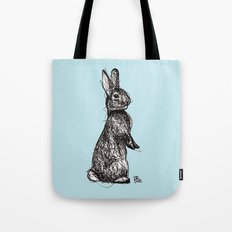 Blue Woodland Creatures - Rabbit Tote Bag