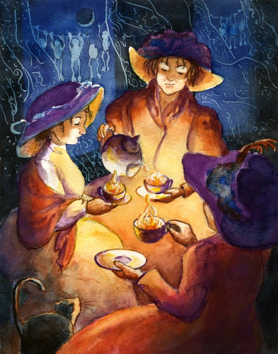 The Witches' Tea Party Art Print