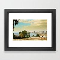 Tel Aviv Coastline  Framed Art Print