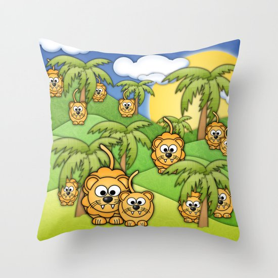 Little Lions. Throw Pillow