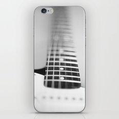 Guitar macro monochrome iPhone & iPod Skin