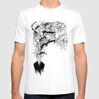 Mr Lovercraft's Monsters Mens Fitted Tee White SMALL