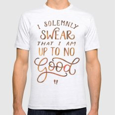 I Solemnly Swear Mens Fitted Tee Ash Grey SMALL