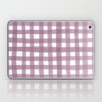 Gingham Plum Laptop & iPad Skin