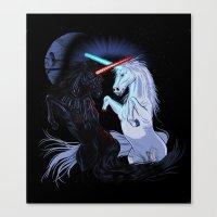 Starwars With Unicorns (… Canvas Print