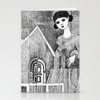 Girl On The Top Of Her H… Stationery Cards