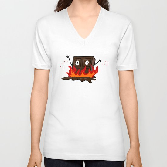 Spicy Chocolate V-neck T-shirt