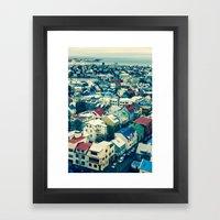Retro Reykjavik - Iceland Framed Art Print