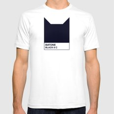 BATONE SMALL White Mens Fitted Tee