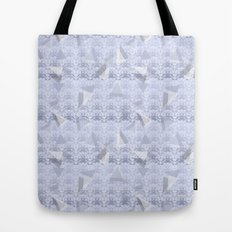 Floral Lace Collection - Blue Tote Bag