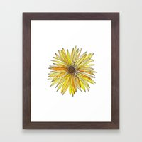 Yellow Gerber Daisy Framed Art Print