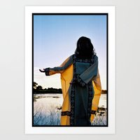 WAYUU YOUNG NATIVE LADY Art Print