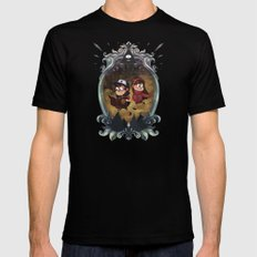 Gravity Falls SMALL Black Mens Fitted Tee