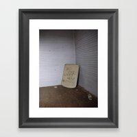 No One Lives Here Anymor… Framed Art Print