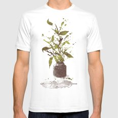 A Writer's Ink SMALL Mens Fitted Tee White