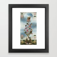 Framed Art Print featuring TULPA by DIVIDUS