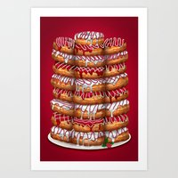Donuts IV 'Merry Christm… Art Print