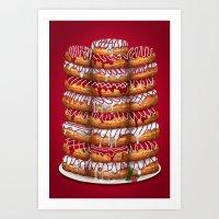 Donuts IV 'Merry Christmas' Art Print
