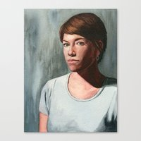 She Who Stares Canvas Print